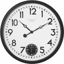 "Wall Clock 29"" 2.5' Large Analog Seconds Subdial Modern Contemporary Sle... - $269.00"