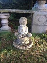 1 Classical Grecian Unusual Stone Cornucopia Garden Fountain Putti Spout - $687.52