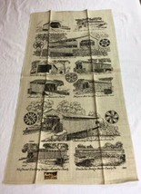 VTG NOS Kay Dee PENNSYLVANIA COVERED BRIDGES Linen Tea Towel - $7.99
