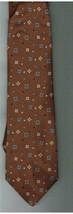 Vintage Mens Tie; Pierre Cardin Cocoa Brown, Sm Design; J L Hudson's Men Store - $1.99