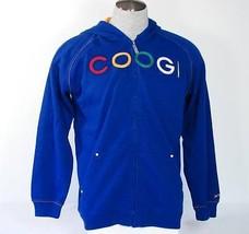 Coogi Signature Blue Hooded Jacket Sweatshirt Hoodie Boys Medium 10 12 N... - $37.12
