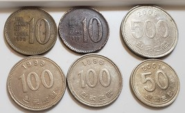 Lot of 6 coins from South Korea - $4.95