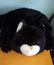 huge plush jellycat cat black white floppy hard to find LARGE size kitty... - $99.00