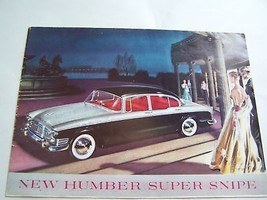 1959 HUMBER OWNERS SALES BROCHURE OWNERS PARTS SERVICE - $24.99
