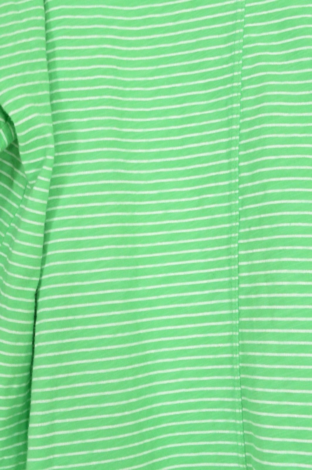1 Fresh Produce top OSFM knit 3/4 sleeve green with tonal green stripes USA 13