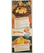 1949 Print Ad Jell-O Puddings Chocolate Tapioca with Apricot Cream Recipe - $14.83