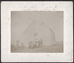 Lisbon Ridge, Maine Cabinet Photo - School House, Bert Coombs & Others - $19.75