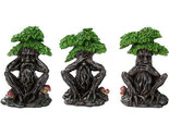 Forest Spirit See Hear Speak No Evil Wise Greenman Figurines Set of Three...