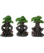 Forest Spirit See Hear Speak No Evil Wise Greenman Figurines Set of Thre... - $23.75