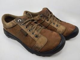 Keen Austin Size US 10.5 M (D) EU 44 Men's Casual Leather Shoes Brown 1007722