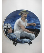 """Collector Plate Porcelain Hand Painted The Sailing Boat 11 1/4"""" Bavarie ... - $12.95"""