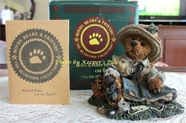 Boyds Bear Bearstone OTIS THE FISHERMAN Collectors Figurine 1994 w/ COA ... - $18.90