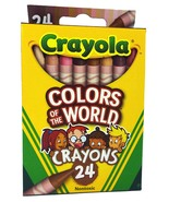 Crayola Colors Of The World Crayons, Assorted Colors, Nontoxic (24 Count) - $12.79