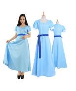 Peter Pan Wendy Darling Princess Blue Dress Cosplay Costumes + Headwear ... - $30.99
