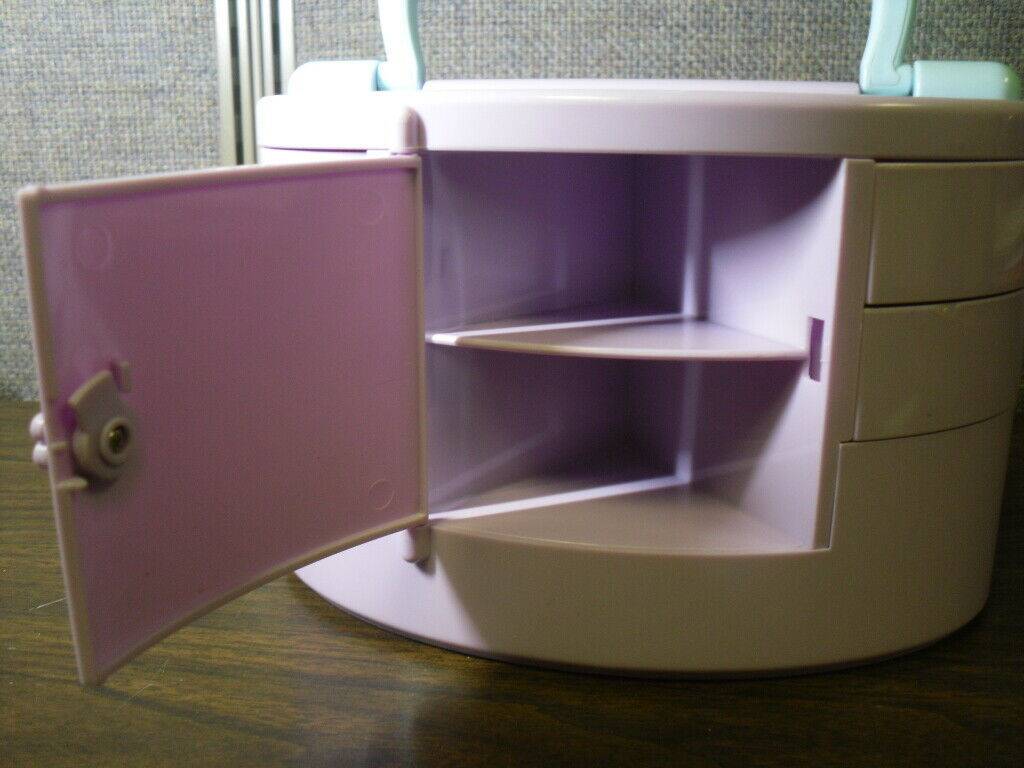 Polly Pocket Pullout Playhouse Jewelry Box Playset with 3 Dolls Bluebird 1991