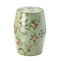 Patio Ceramic Stool, Chinese Ceramic Stools, Decorative With Birds And F... - $106.19