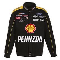 Authentic  Joey Logano Penzoil Black  Uniform Cotton Jacket JH Design  - $149.99