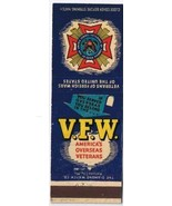 Military Matchbook Cover Enola PA Veterans Foreign Wars Canteen Ship 751 - $1.89