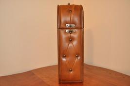 Leather Wood Wine Bottle Case/Holder - $20.00