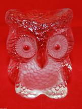 Mid Century Mod Viking Clear Glass Handmade Owl Figure Figurine Paperwei... - $49.51