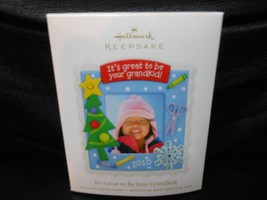 "Hallmark Keepsake ""It's Great To Be Your Grandkid"" 2010 Photo Ornament NEW - $0.69"
