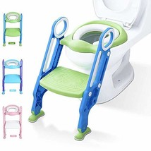 Potty Training Toilet Seat with Step Stool Ladder for Kid and Baby, Adjustable T