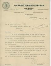 1903 Trust Company of America Letterhead New York City Bank Banking Broa... - $5.00