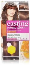 L'Oreal Paris Casting Creme Gloss Hair Color, Medium Brown 500, 87.5g+72ml - $24.61