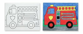 Melissa & Doug Canvas Creations - Fire Truck - $18.80