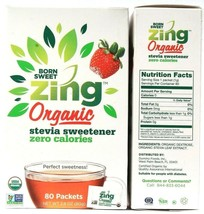 2 Count Domino Foods Born Sweet Zing Organic Stevia Sweetener 2.8oz BB 1... - $19.99