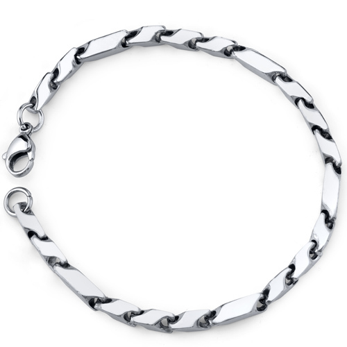 Men's Stainless Steel Fancy 3D Arrow Link Bracelet