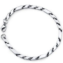 Men's Stainless Steel Fancy 3D Arrow Link Bracelet image 1