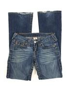 True Religion Womens Jeans Size 26 Boot Cut Medium Wash Whiskered Denim  - $43.41
