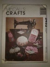 McCall's 2452 Sewing Accessories Pincushion Tote etc - $11.64