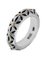 Solid Sterling Silver & 14 k Comfort Band Ring » R23 - $92.54