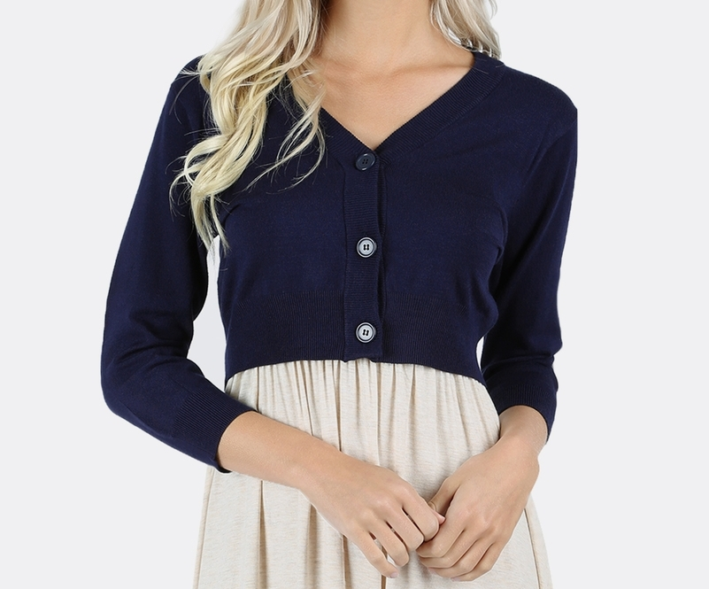 Plus Navy Cardigan, Plus Womens Clothing, Plus Size Sweater, Colbert Clothing