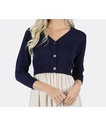 Plus Navy Cardigan, Plus Womens Clothing, Plus Size Sweater, Colbert Clo... - $519,89 MXN