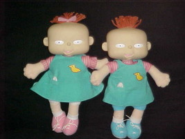 "12"" Phil and Lil Rugrats Plush Dolls By Mattel 1998 Viacom Extremely Rare - $93.49"