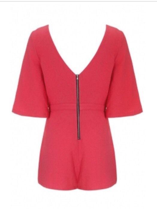 Pink jumper romper Medium nwot new