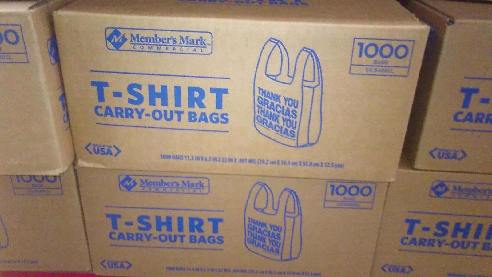 Member S Mark T Shirt Carryout Bag 1000 And 50 Similar Items