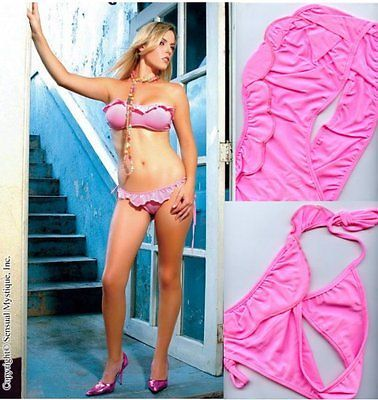 Sensual Mystique Pink Bandeau Top mit passenden Höschen Dessous Erotik 80127 image 2