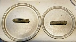 "Vintage Set of 2 6.5"" 5.5"" Wear-Ever Wearever Saucepan Lids - $9.90"