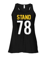 National Patriotic Anthem Football Jersey Flowy Racerback Tank Stand 78 Tee - $26.95+