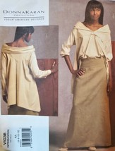 Vogue Pattern 1038 Donna Karan Collection, Artsy Tunic and Skirt - $10.00
