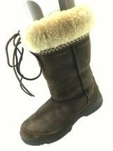 SH18 UGG Australia US 9 Brown Ultimate Cuff Shearling Sheepskin Tie Winter Boot - $31.67