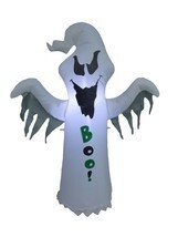 4 Foot Tall Halloween Lighted Inflatable Ghost BOO Yard Party Outdoor De... - €43,55 EUR