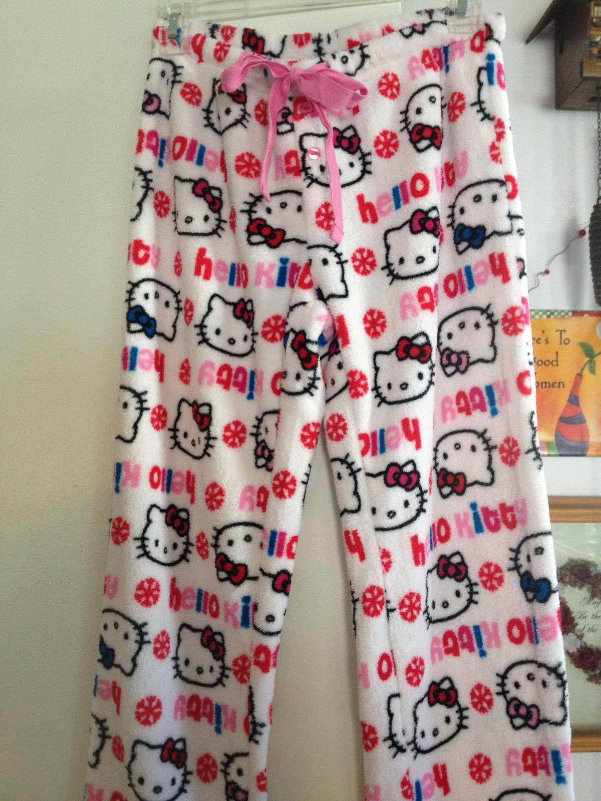 ddbf203a9 S l1600. S l1600. Previous. Girls Hello Kitty Soft Plush Fleece Snowflake  Lounge Pants Sleepwear Small Cute