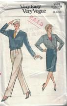 9505 Uncut Vogue Nähen Muster Misses Lose Passform Jacke Rock Hose Einfa... - $4.88