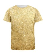 Faux Gold Glitter All Over Mens T Shirt - $26.95+