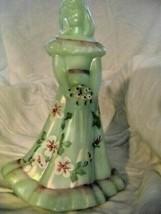 Fenton Art Glass Jade Bridesmaid Doll Figurine Shelly Fenton - $77.39